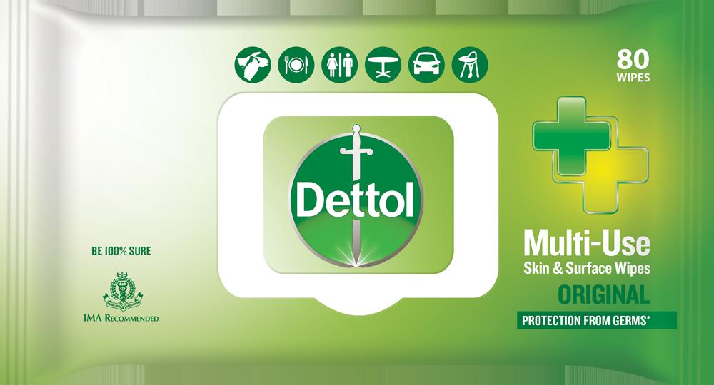 Dettol Multi-Use Skin & Surface Wipes Original